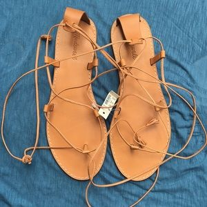 """Madewell """"the Boardwalk"""" lace-up Sandals"""